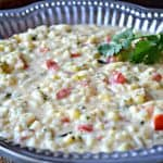 Creamy Corn and Tomato Risotto with Roasted  Poblano