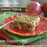 Caramel Apple Cake with Salted Caramel Topping