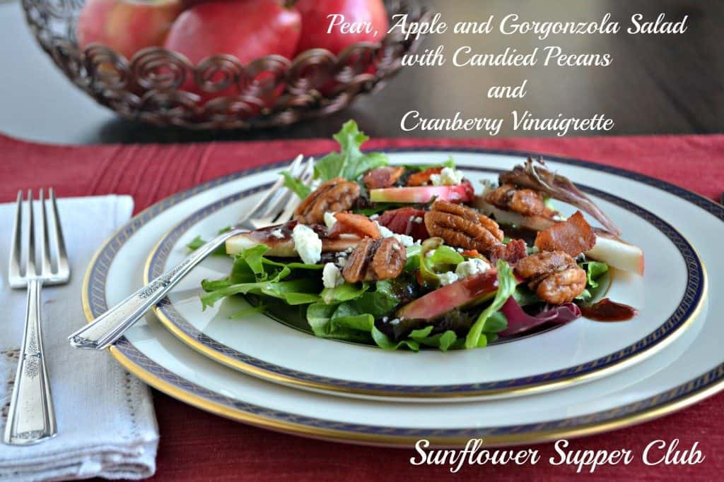 Pear-Apple-Pecan-Salad-Cranberry-Viniagrette
