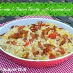 Corn, Tomato, and Bacon Risotto with Caramelized Onions