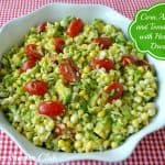 Corn, Avocado, and Tomato Salad (or Dip) with Honey Lime Dressing