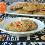 Candy Corn Chocolate Chip Peanut Cookies