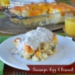 Sausage, Egg, and Biscuit Casserole